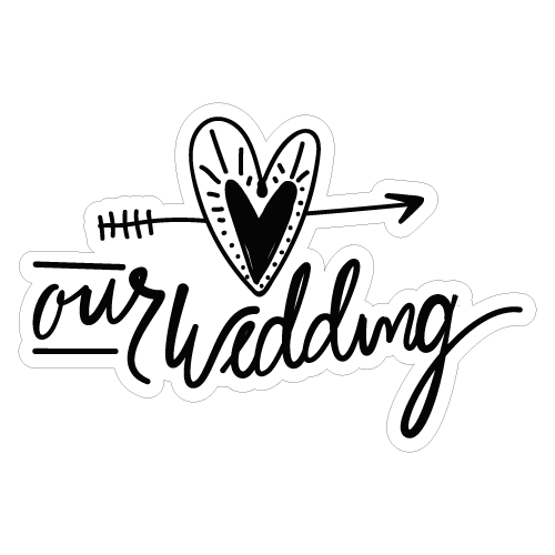 Our wedding vinyl custom sticker at great prices chimpstickers our wedding junglespirit Image collections