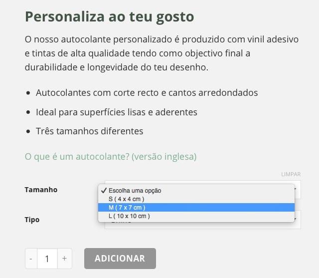 08 - opções de compra - autocolante personalizado