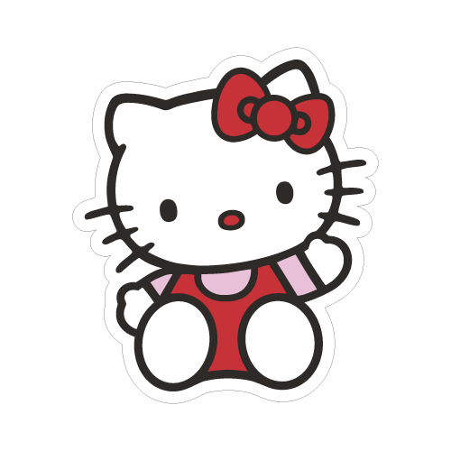 Hello kitty autocolante chimpstickers hello kitty stopboris Choice Image