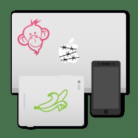 Autocolantes para gadgets (dispositivos)