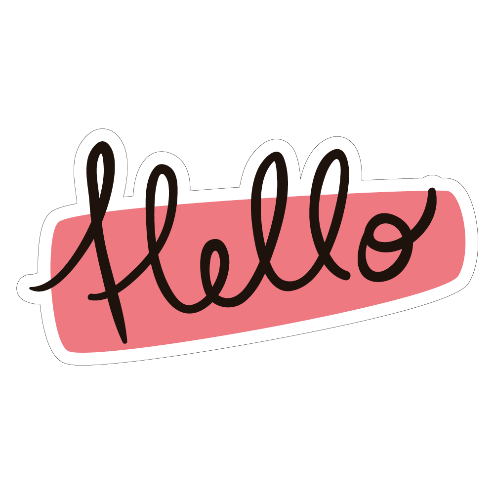 Hello vinyl custom sticker at great prices chimpstickers hello stopboris Gallery