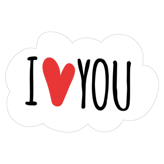 I Love You: Vinyl Custom Sticker At Great Prices